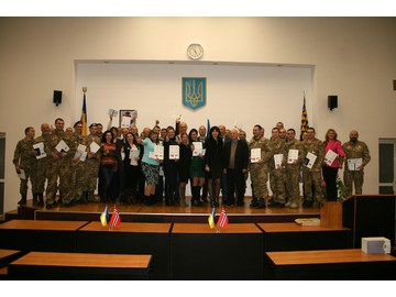 The first graduation ceremony of the participants of the Ukraine-Norway project held in Dnipro