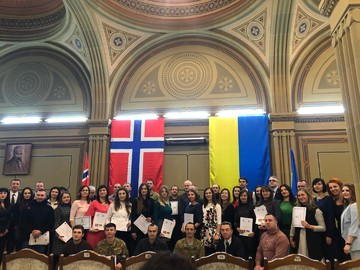 "From December 12 to December 20 the graduation events of the autumn semester of the ""Ukraine-Norway"" project were held in nine cities of Ukraine."