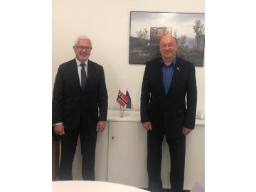 The first IFSA meeting with the new Norwegian Ambassador to Ukraine took place